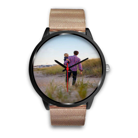 Add your own Photo Custom Watch (Email in your photo after ordering) Black Watch wc-fulfillment Mens 40mm Rose Gold Metal Mesh