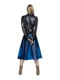 MASIKA - LARGE PLEATED wrap SKIRT Love Blue