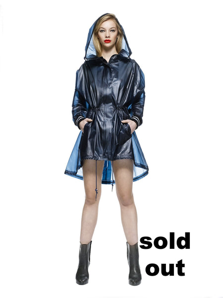 SHINJUKU - Parka with oversized hood Midnight Blue