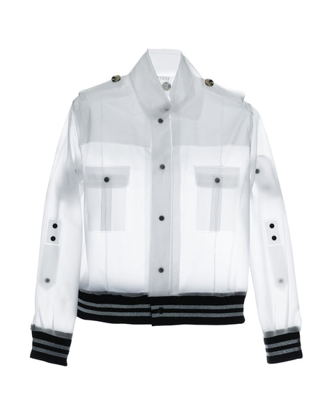 DAIKANYAMA - Short Bomber Jacket Frosty White