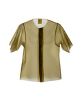 SHANTI - SHORT SLEEVED BLOUSE SOLID GOLD