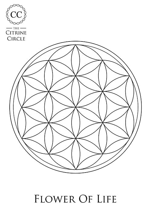 Flower of Life Colouring preview