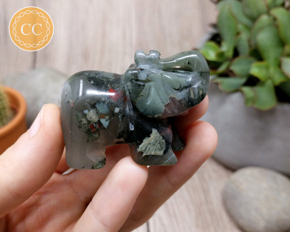 Bloodstone Elephant 50mm #1