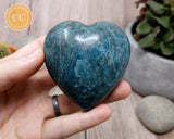 Large Blue Apatite Heart #7