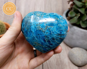 Large Blue Apatite Heart