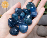 Blue Fluorite Tumbled Crystal