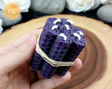 Mini Purple Rolled Beeswax Candle