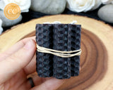 Mini Black Rolled Beeswax Candle