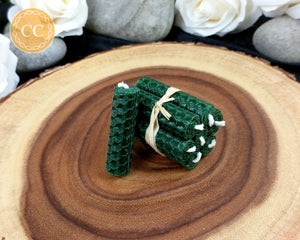 Mini Green Beeswax Spell Candles