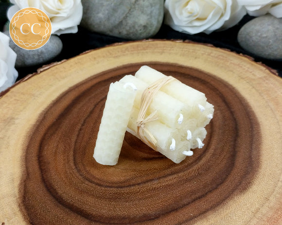 Mini Ivory Beeswax Spell Candles