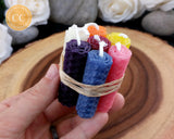 Mini Chakra Beeswax Candle Set