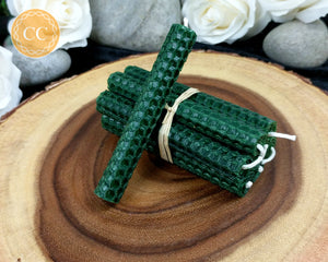 Forest Green Beeswax Spell Candles