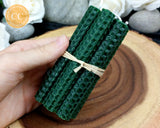 Forest Green Rolled Beeswax Candle
