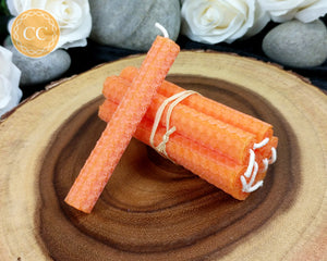Orange Beeswax Spell Candles
