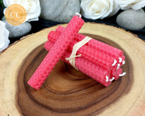 Red Beeswax Spell Candles