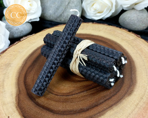 Black Beeswax Spell Candles