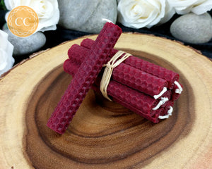 Burgundy Beeswax Spell Candles