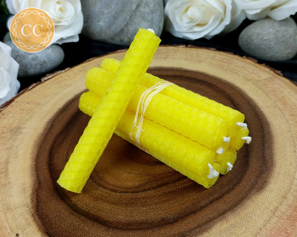 Yellow Beeswax Spell Candles