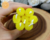 Yellow Rolled Beeswax Candle