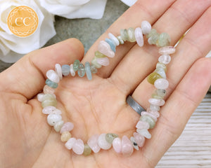 Aquamarine, Morganite and Beryl Bracelets