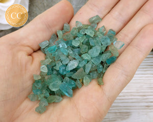 Neon Blue Apatite crystal chips