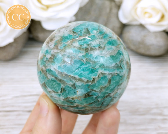 Graphic Amazonite Sphere