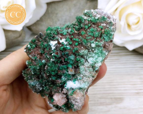 Malachite, Gypsum and Dolomite Specimen #1