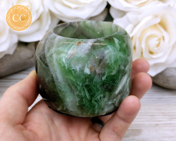 Fluorite Candle Holder #1