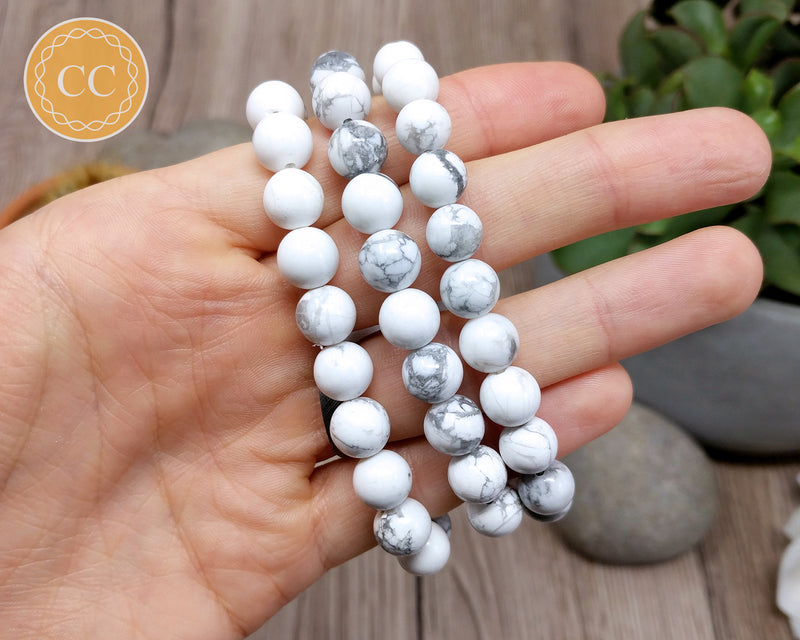 White Howlite 8mm Bracelet
