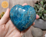 Large Blue Apatite Heart #1