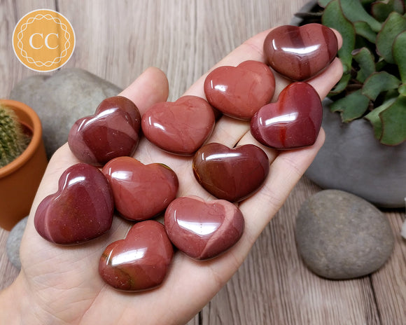 Red Mookaite Heart 32mm