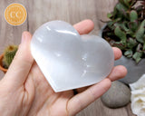 Satin Spar Selenite Large Heart