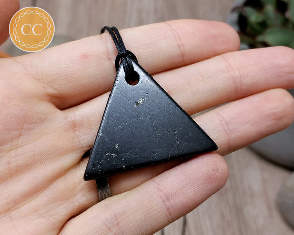 Shungite Triangle Pendant