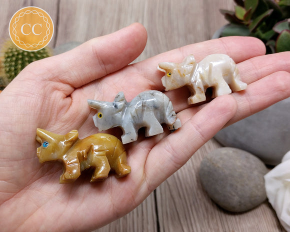 Soapstone triceratops