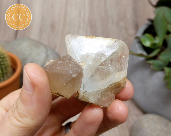 Large Terminated Topaz with Quartz #1