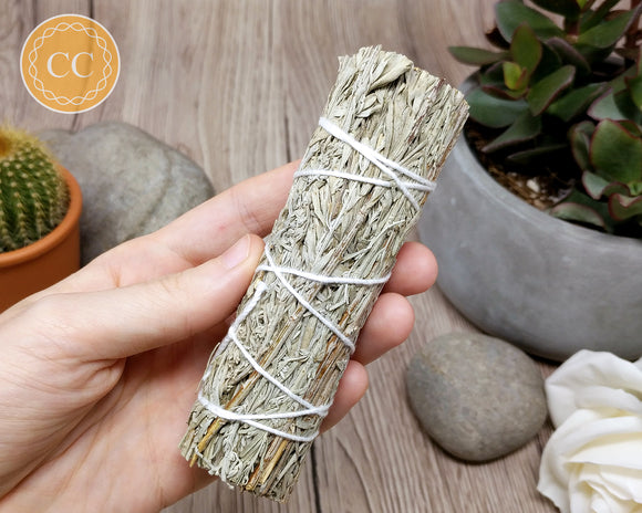White Sage and Blue Sage Smudge Stick