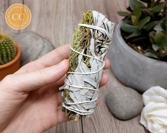 White Sage Juniper Smudge Stick