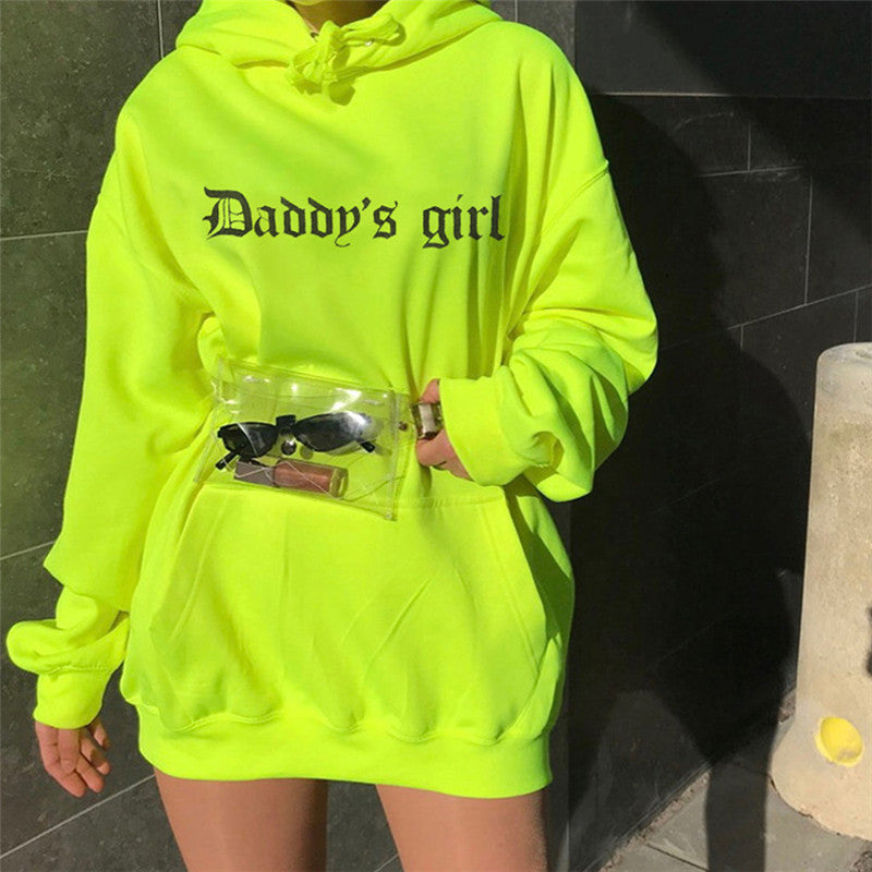 Daddy's Girl Fluorescence Long Hoodie
