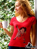 Betty Boo - Women's V-Neck T-Shirt