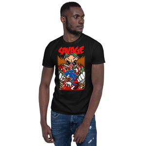 Savage Hedgehog - Premium high quality Unisex T-shirt