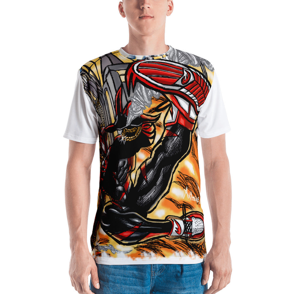 Spider In The City - All Over Print Short Sleeve Men's T-Shirt