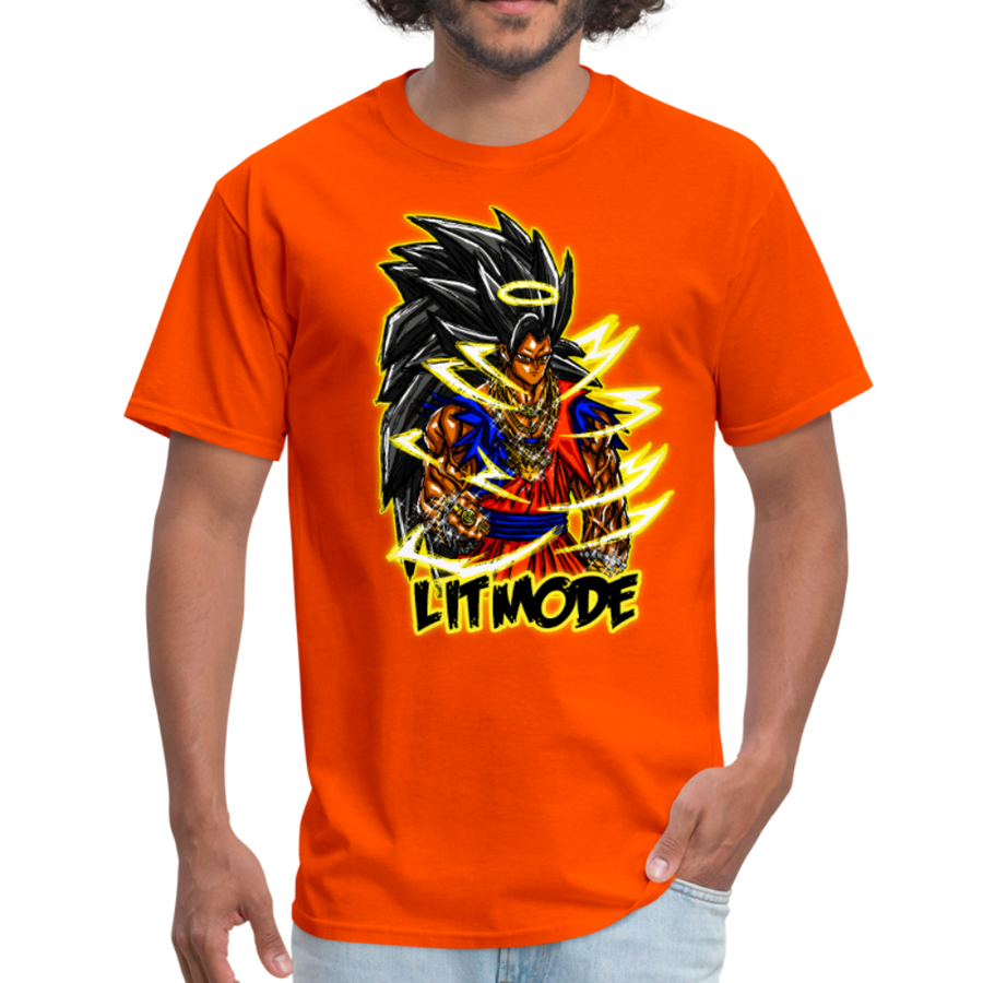 Lit Mode Saiyan - Men's T-Shirt - black