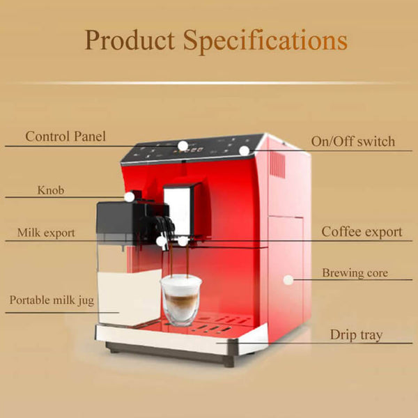 iTOP 202 fully automatic coffee machine part detail-- iTOP Coffee