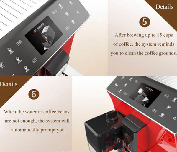 iTOP 202 fully automatic coffee machine detail_3-- iTOP Coffee