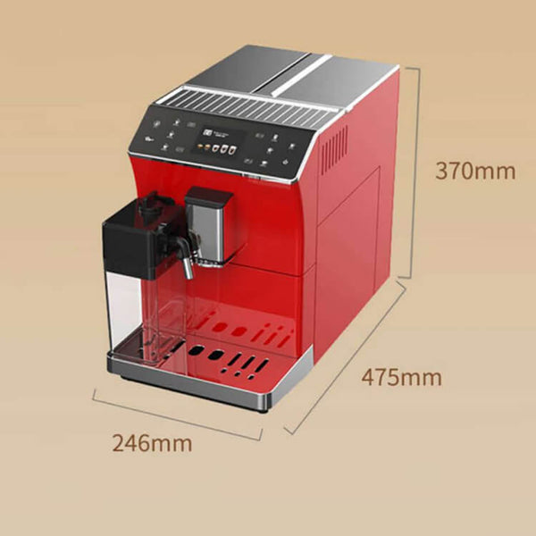 iTOP 202 fully automatic coffee machine size-- iTOP Coffee