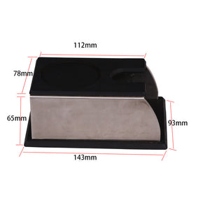 Coffee Tamper Mat Stainless Steel Espresso Coffee Powder Holder Press Support Base Coffee Machine Tool Accessories