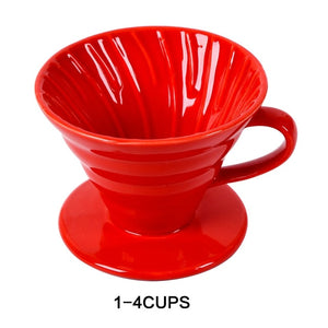Ceramic Coffee Dripper Filter Cup Coffee Maker with Separate Stand for 1-4 Cups