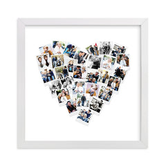 Minted Heart Shaped Picture Frame