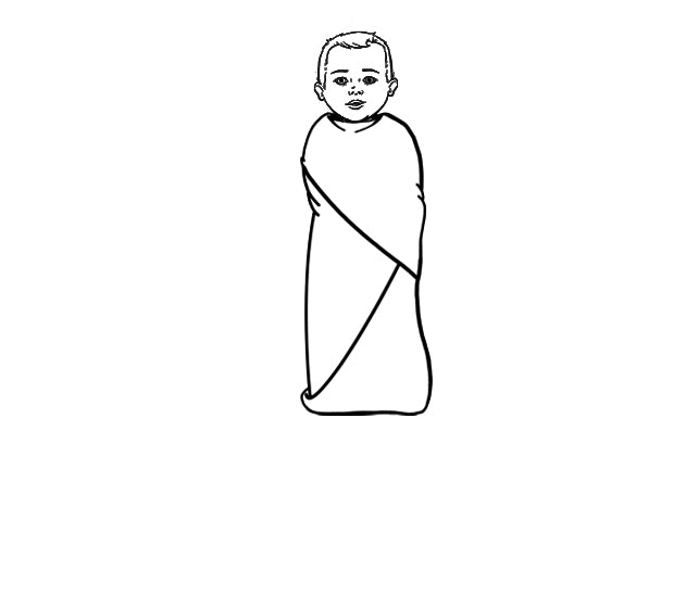 How To Swaddle A Baby Step-By-Step- Step 4