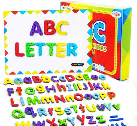 MAGTIMES Magnetic Letters and Numbers for Educating Kids